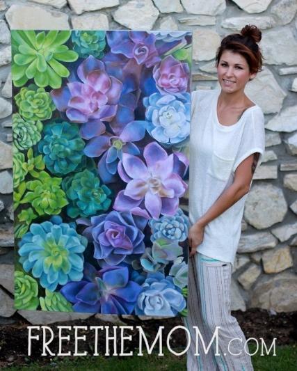 succulent-painting