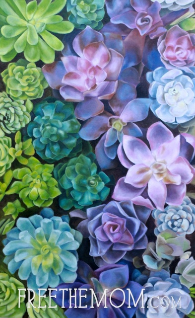 Succulent Garden Painting Behind The Scenes Free The Mom
